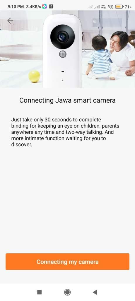 Start connecting the device