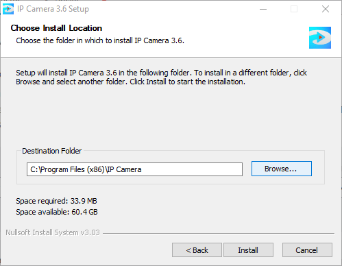 Select the drive to store files