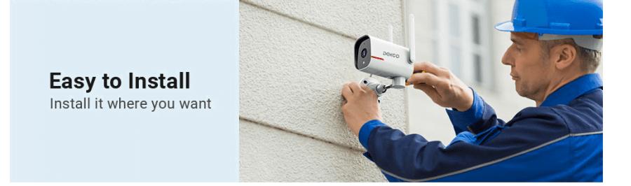 DEKCO 1080P Pan Rotating 180° Outdoor Security Camera 11