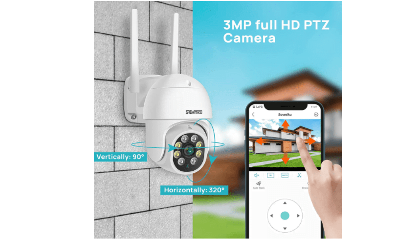 SOVMIKU SFWHD313 PTZ 3MP Outdoor Security Camera 1