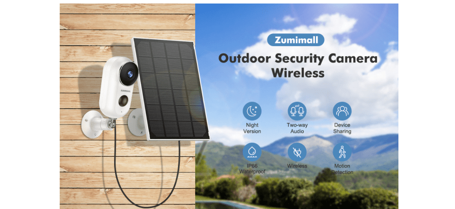 ZUMIMALL F5K Outdoor Security Camera 8