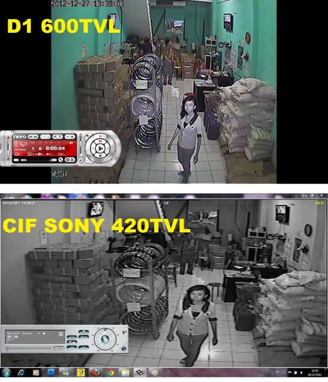 PERBANDINGAN KAMERA CCTV LOW RESOLUTION VS HIGH RESOLUTION