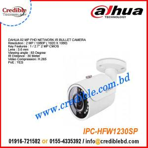 Dahua IPC-HFW1230SP 2MP IR Mini-Bullet Network Camera