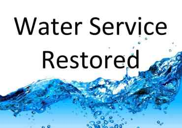 Water Service Restored in Arnold