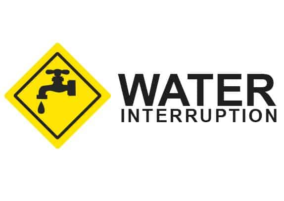 Water Interruption Sign