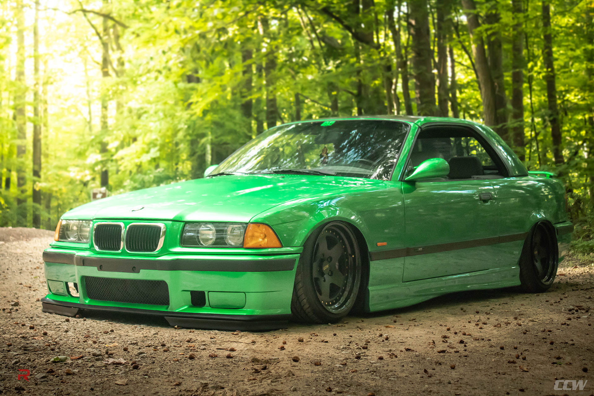 hight resolution of green bmw e36 m3 ccw classic 5 wheels
