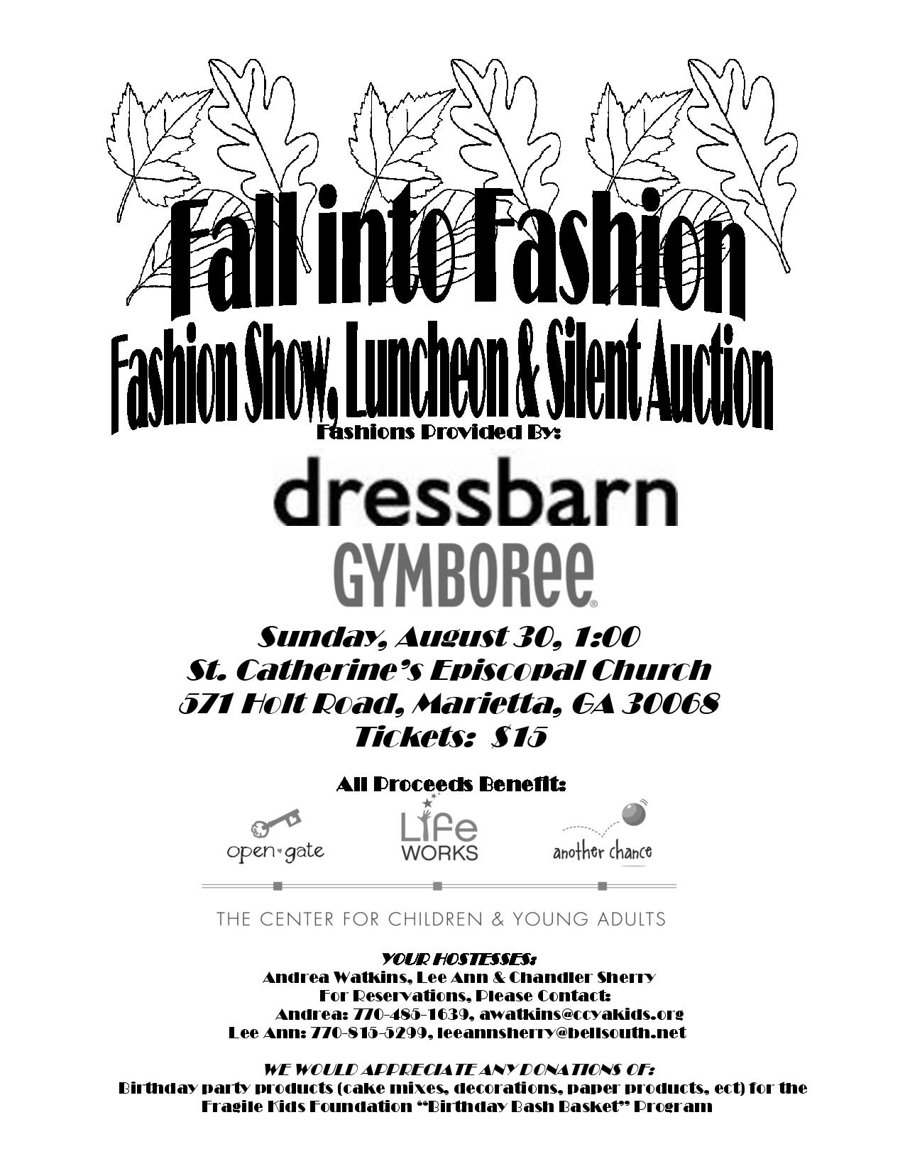 Save the Date: St. Catherine's Fall Fashion Show