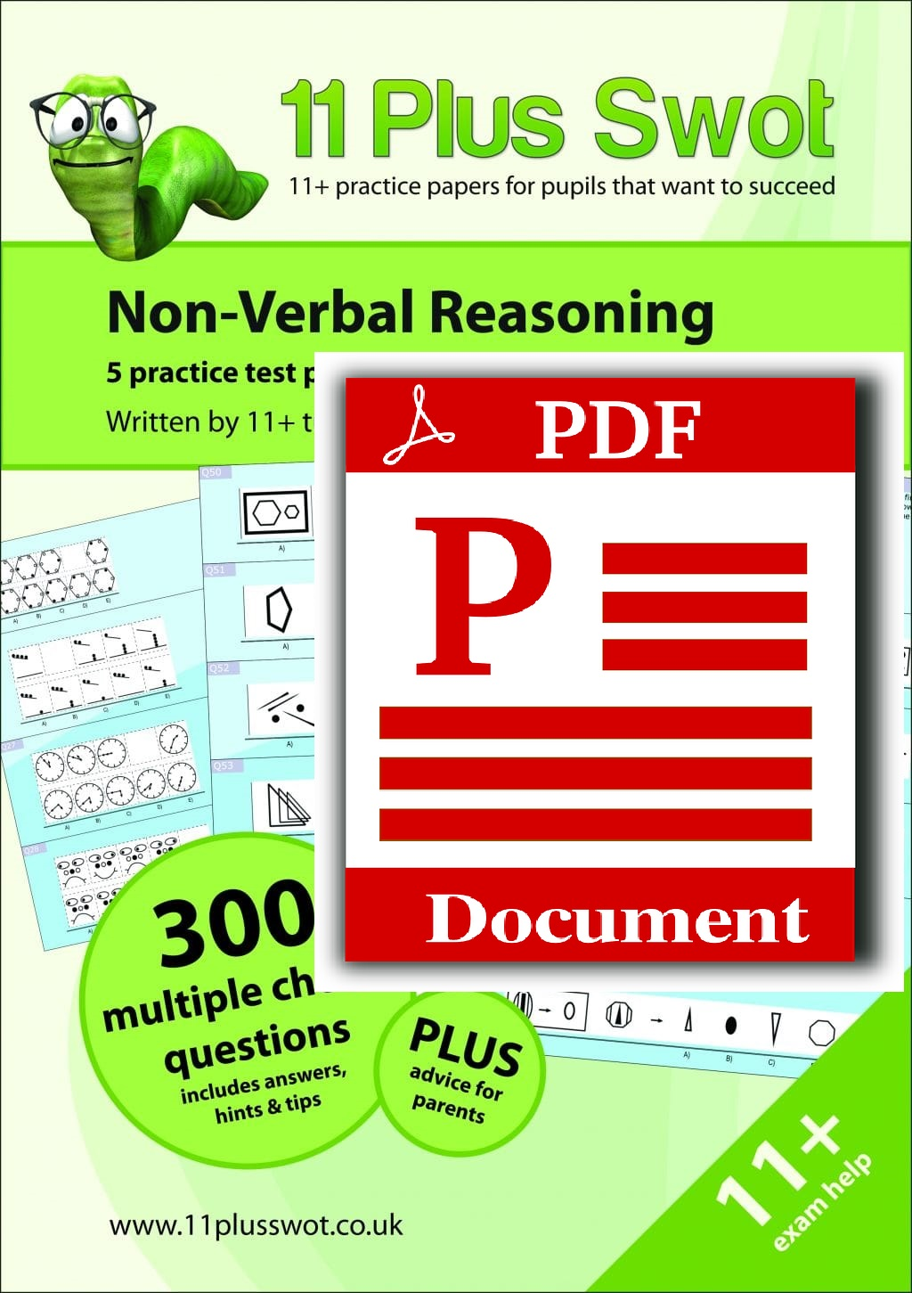 11 Plus Swot Gl Non Verbal Reasoning Multiple Choice Exam