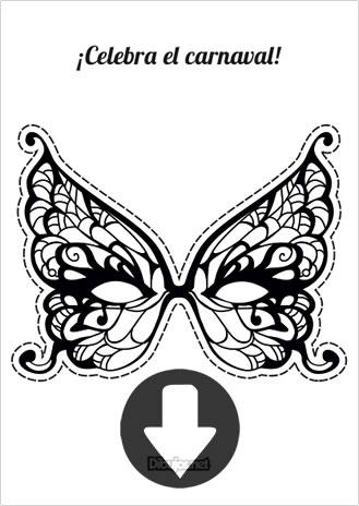 Manualidad: Descarga y pinta tu máscara para Carnaval