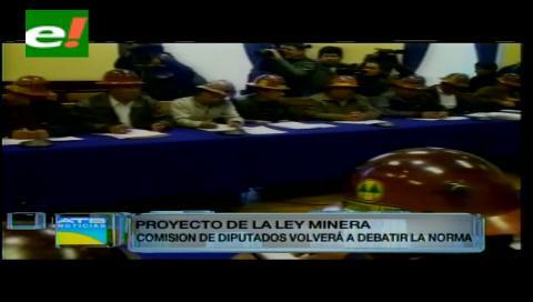 Ley Minera será analizada en la Comisión de Economía Plural de la Cámara de Diputados