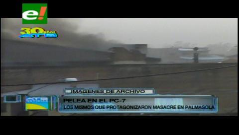 Un enfrentamiento entre reos de Palmasola deja al menos 5 heridos