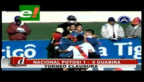 Nacional le ganó a Guabirá por la mínima diferencia