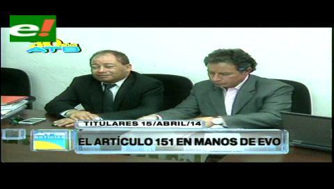 Titulares: Gobierno y cooperativistas no logran consensuar el artículo 151