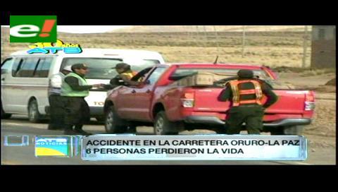 Colisión de una vagoneta deja cinco muertos en Oruro