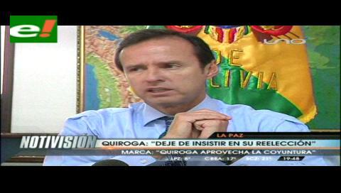 Jorge Tuto Quiroga: Reelección de Evo pondría en riesgo demanda marítima