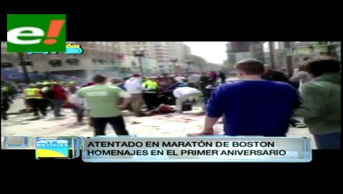 Boston homenajea a las víctimas del atentado de la maratón en su primer aniversario