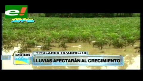 Titulares: Lluvias afectarán al crecimiento económico del país