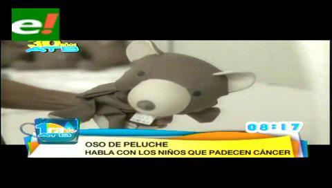 Un oso de peluche que habla para ayudar a los niños con cáncer