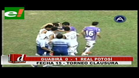 Real Potosí derrotó a Guabirá por uno a cero en Montero