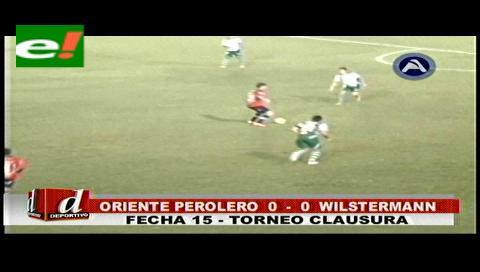 Un desabrido empate a ceros entre Oriente y Wilstermann