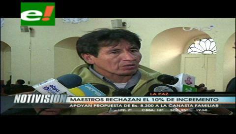 """Magisterio paceño califica de """"insuficiente"""" propuesta de incremento salarial"""