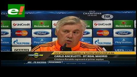 Ancelotti reservará a Cristiano Ronaldo para el Madrid-Bayern si hay dudas de recaída