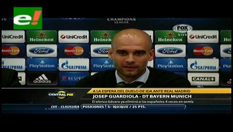 "Guardiola no le teme al Real Madrid: ""Ojalá juegue Cristiano"""