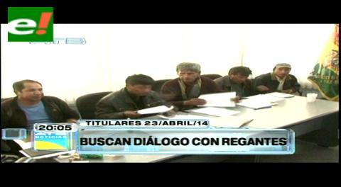 Titulares: Gobierno busca diálogo con regantes del país