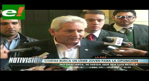 """Costas: """"Me encantaría que el alcalde de La Paz sea el candidato"""""""