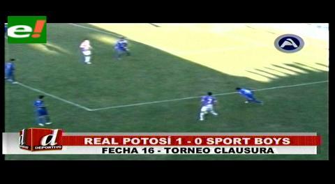 En Potosí Real gana por la mínima a Sport Boys