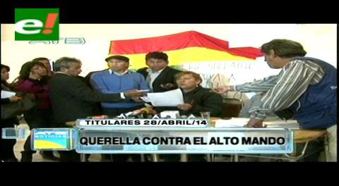Titulares: Esposas de suboficiales anuncian querella contra el alto mando militar por difamación