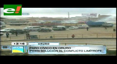 Oruro cumple paro cívico por conflictos limítrofes
