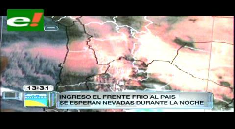 Senamhi pronostica ingreso de un frente frío y nevada en El Alto