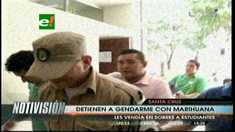 Santa Cruz: Gendarme municipal vendía drogas en un colegio