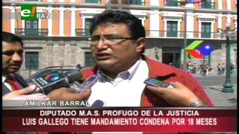 """Barral tilda de """"prófugo de la justicia"""" a un diputado del MAS"""