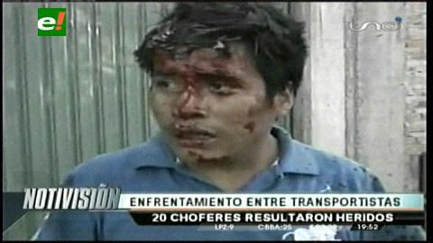 Cochabamba: Enfrentamientos por rutas deja un saldo de 20 choferes heridos