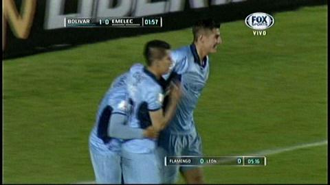 Bolívar vence 2-1 a Emelec y asegura su pase a octavos en la Copa Libertadores