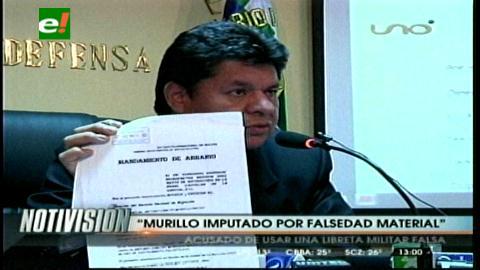 Ministro de Defensa anuncia juicio contra Arturo Murillo