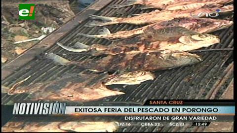 Pescados y tablillas en las ferias de Porongo y Cotoca
