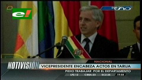 García Linera afirma que Tarija no tiene proyecto de desarrollo
