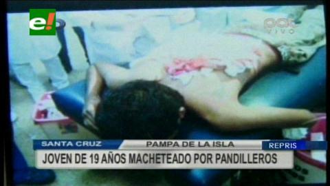 Santa Cruz: Joven es macheteado por pandilleros