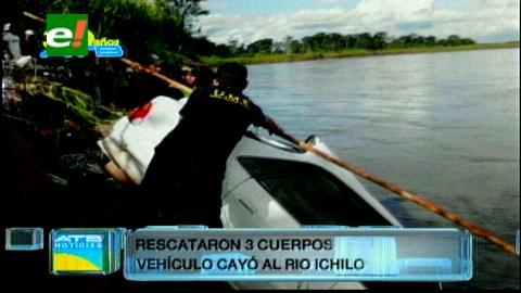Yapacaní: Tres jóvenes mueren al caer su vehículo al río Ichilo
