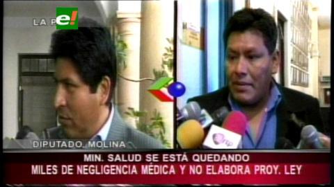 Diputado Molina aplaza la gestión del Ministro de Salud