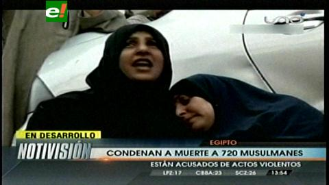 Egipto: Condenan a muerte a 720 islamistas, incluido el líder de Hermanos Musulmanes