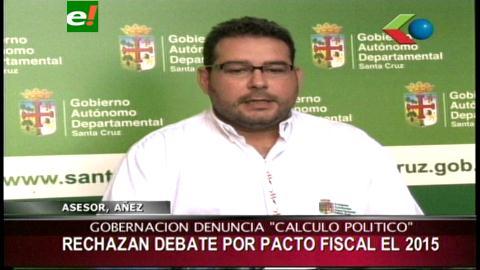 Gobernación cruceña socializará propuesta de pacto fiscal en el país