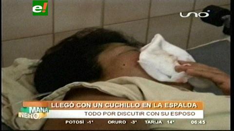 Cochabamba: Sujeto le clava un cuchillo a ex esposa