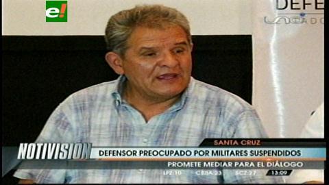 Defensor del Pueblo: Hay peligro de que se politice el conflicto en las FFAA