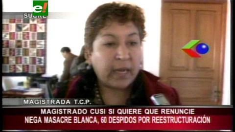 Magistrados critican postura de Cusi y le piden producir fallos