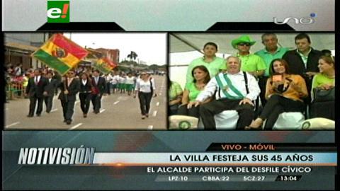 Santa Cruz: Estudiantes y autoridades rinden homenaje a la Villa Primero de Mayo