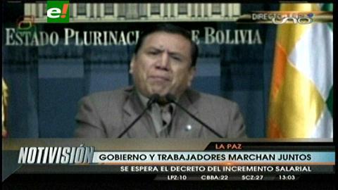Presidente Morales participará en 'multitudinaria' marcha por el Día Internacional del Trabajo